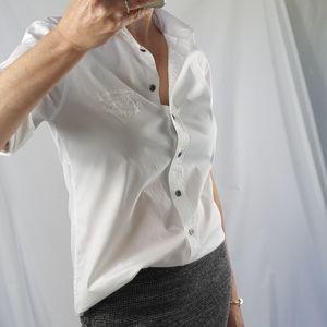 Burberry white dress shirt size S